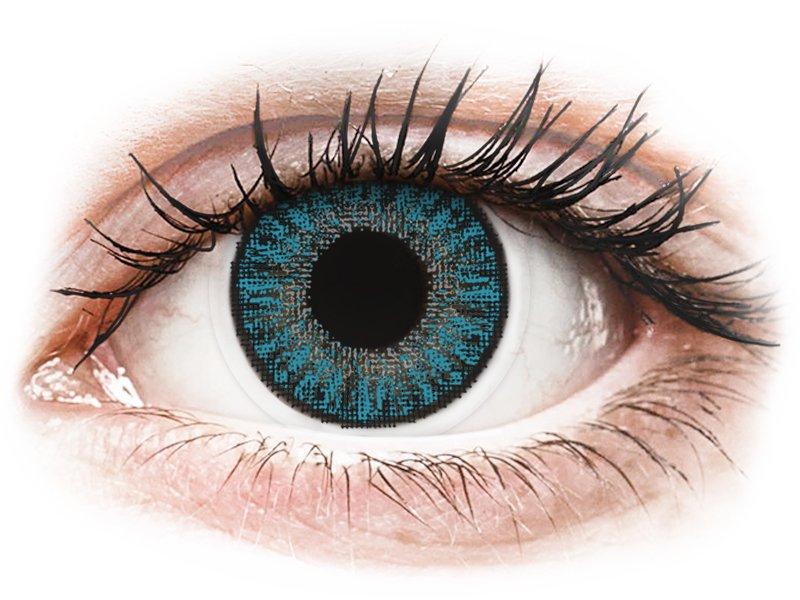 Сини (Blue) - TopVue Color daily - с диоптър (10лещи) - Coloured contact lenses