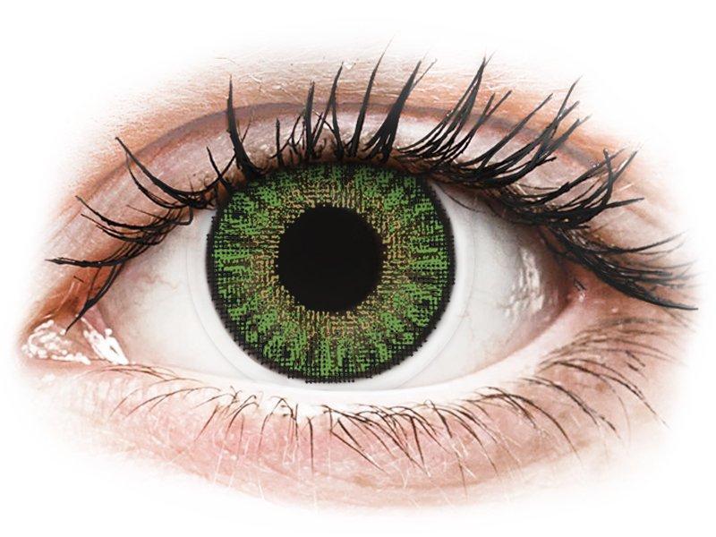 Зелени (Green) - TopVue Color daily - с диоптър (10лещи) - Coloured contact lenses
