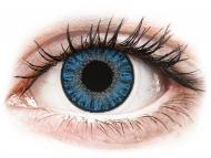 Сини контактни лещи - c диоптър - Сапфирено сини (Sapphire Blue) - TopVue Color daily  - с диоптър (10лещи)