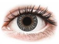 Сиви контактни лещи - c диоптър - Сиви (Grey) - TopVue Color - с диоптър (2лещи)