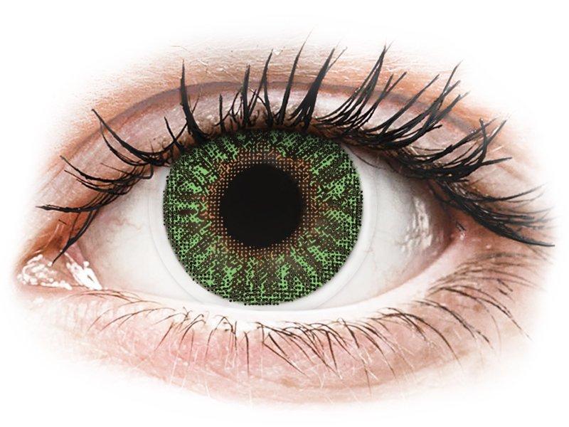Зелени (Green) - TopVue Color - с диоптър (2лещи) - Coloured contact lenses