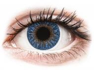 Сини контактни лещи - c диоптър - Истински сапфир (True Sapphire) - TopVue Color - с диоптър (2лещи)