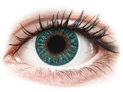 TopVue Color - Turquoise - с диоптър (2 лещи)