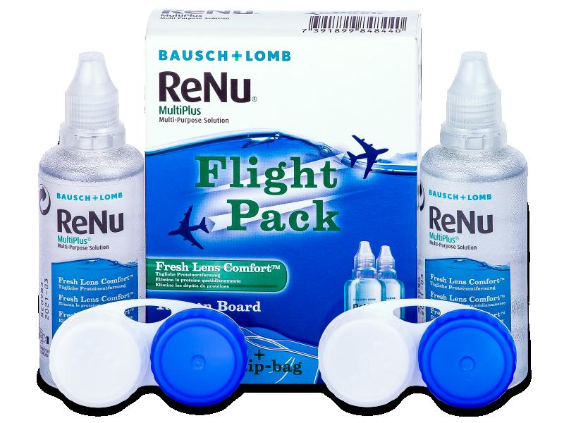 Разтвор ReNu Multiplus flight pack 2 x 60 ml  - Разтвор за почистване