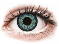 Сини контактни лещи - c диоптър - Морско синьо (Aqua) - ColourVUE Glamour - с диоптър (2лещи)