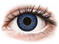 Сини контактни лещи - c диоптър - Сини (Blue) - ColourVUE Glamour - с диоптър (2лещи)