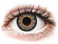 Сиви контактни лещи - c диоптър - Сиви (Grey) - ColourVUE Glamour - с диоптър (2лещи)