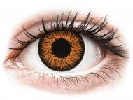 Кафяви контактни лещи - без диоптър - Медени (Honey) - ColourVUE Glamour (2лещи)