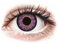 Лилави контактни лещи - без диоптър - Лилави (Violet) - ColourVUE Glamour (2лещи)
