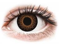 Кафяви контактни лещи - без диоптър - Кафяви (Brown) - ColourVUE Eyelush (2лещи)