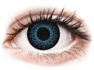 Сини контактни лещи - c диоптър - Сини (Blue) - ColourVUE Eyelush - с диоптър (2лещи)