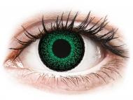 Диоптрични цветни лещи - Зелени (Green) - ColourVUE Eyelush - с диоптър (2лещи)