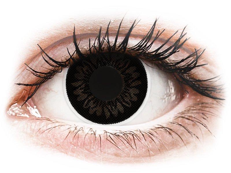 Черни, кукла (Dolly Black) - ColourVUE BigEyes - с диоптър (2лещи) - Coloured contact lenses