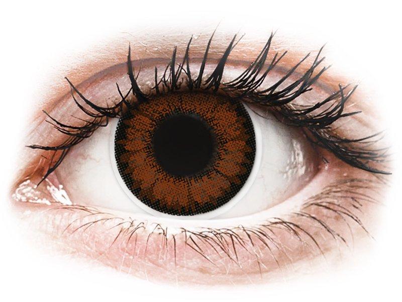 Красив лешник (Pretty Hazel) - ColourVUE BigEyes - с диоптър (2лещи) - Coloured contact lenses