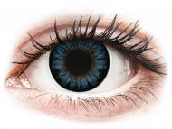 Сини контактни лещи - c диоптър - Студено сини (Cool Blue) - ColourVUE BigEyes - с диоптър (2лещи)