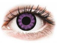 Лилави контактни лещи - без диоптър - Ултравиолетови (Ultra Violet) - ColourVUE BigEyes (2лещи)