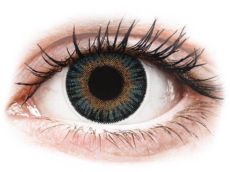 Сини (Blue) - ColourVUE 3 Tones - с диоптър (2лещи) - Coloured contact lenses