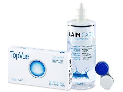 TopVue Monthly (6 лещи) + разтвор Laim Care 400 ml