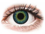 Сини контактни лещи - c диоптър - Жълто-сини (Yellow Blue) - ColourVUE Fusion - с диоптър (2лещи)
