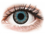 Сини контактни лещи - c диоптър - Синьо-сиви (Blue Gray) - ColourVUE Fusion - с диоптър (2лещи)