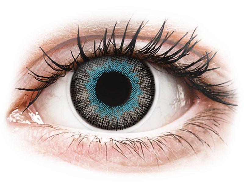 Синьо-сиви (Blue Gray) - ColourVUE Fusion - с диоптър (2лещи) - Coloured contact lenses