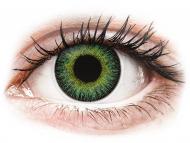 Жълти контактни лещи - без диоптър - Зелено-жълти (Green Yellow) - ColourVUE Fusion (2лещи)