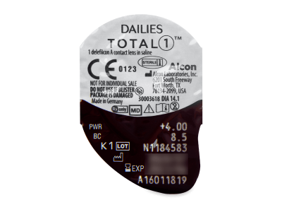 Dailies TOTAL1 (30лещи) - Преглед на блистер