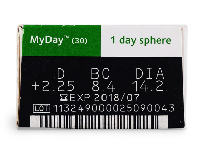 MyDay daily disposable (30лещи) - Преглед на параметри
