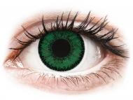Недиоптрични цветни лещи - SofLens Natural Colors Emerald - без диоптър (2 лещи)