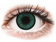 Диоптрични цветни лещи - SofLens Natural Colors Jade - с диоптър (2 лещи)