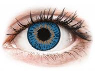 Цветни лещи - Expressions Colors Dark Blue - с диоптър (1 леща)