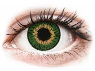 Оранжеви контактни лещи - без диоптър - Expressions Colors Green - без диоптър (1 леща)