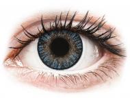 Сини контактни лещи - без диоптър - Сини (Blue) - FreshLook ColorBlends (2 лещи)