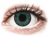 Сини контактни лещи - c диоптър - Брилиантно сини (Brilliant Blue) - FreshLook ColorBlends - с диоптър (2 лещи)