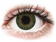 Зелени контактни лещи - без диоптър - Зелени гемстън (Gemstone Green) - FreshLook ColorBlends (2 лещи)