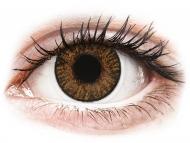 Кафяви контактни лещи - без диоптър - Медени (Honey) - FreshLook ColorBlends (2 лещи)