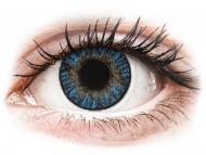 Сини контактни лещи - без диоптър - Истински сапфир (True Sapphire) - FreshLook ColorBlends (2 лещи)
