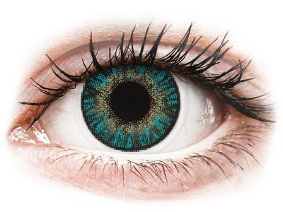 Тюркоазни (Turquoise) - FreshLook ColorBlends - с диоптър (2 лещи)