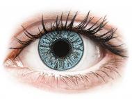 Сини контактни лещи - c диоптър - Сини (Blue) - FreshLook Colors - с диоптър (2 лещи)