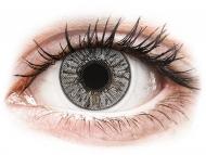 Сиви контактни лещи - c диоптър - Мъгливо сиви (Misty Gray) - FreshLook Colors - с диоптър (2 лещи)