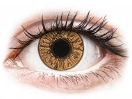 Кафяви контактни лещи - без диоптър - Лешник (Hazel) - FreshLook Colors (2 лещи)