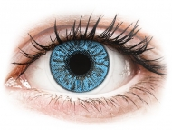 Сини контактни лещи - c диоптър - Сапфирено сини (Sapphire Blue) - FreshLook Colors - с диоптър (2 лещи)