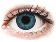 Сини контактни лещи - c диоптър - Брилянтно синьо (Brilliant Blue) - Air Optix Colors - с диоптър (2лещи)