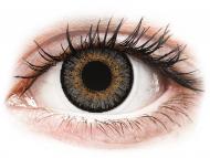 Сиви контактни лещи - c диоптър - Сиви (Grey) - FreshLook One Day Color - с диоптър (10 лещи)