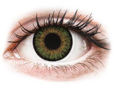 Зелени (Green) - FreshLook One Day Color - с диоптър (10 лещи)