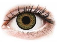 Кафяви контактни лещи - без диоптър - Истински лешник (Pure Hazel) - FreshLook One Day Color (10 лещи)