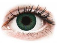 Зелени контактни лещи - без диоптър - Карибско синьо (Carribean Aqua) - FreshLook Dimensions (2 лещи)