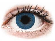 Сини контактни лещи - c диоптър - Тихоокеанско синьо (Pacific Blue) - FreshLook Dimensions - с диоптър (6 лещи)