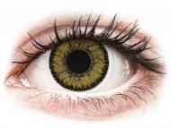 Диоптрични цветни лещи - SofLens Natural Colors Dark Hazel - с диоптър (2 лещи)