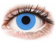 Сини контактни лещи - без диоптър - Небесносини (Sky Blue) - ColourVUE Crazy Lens - еднодневни (2 лещи)